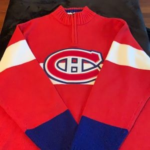 NHL MONTREAL CANADIANS OFFICIAL SWEATER